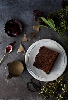 Chocolate and Poppy Seeds Cake | Photography and Styling by Sanda Vuckovic | Little Upside Down Cake