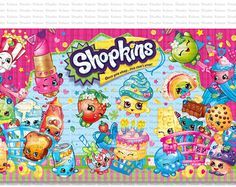 Newest Images Backdrop Shopkins Birthday Party YOU PRINT from KabooStudio Sugge. Newest Images Backdrop Shopkins Birthday Party YOU PRINT from KabooStudio Suggestions Your littl Hawaiian Birthday, 5th Birthday, Birthday Parties, Birthday Backdrop, Birthday Decorations, Shopkins Birthday Party, Shopkins Art, Party Printables, Party Supplies