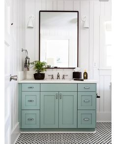 These trendy cabinet paint colors can work for kitchen or bathroom cabinets in your home. We're sharing the best paint colors to use when remodeling your cabinets. These color trends are timeless options that will make any room look more beautiful. Bathroom Renos, Master Bathroom, Bathroom Ideas, Bathroom Mirrors, Ikea Bathroom, Brass Bathroom, Bathroom Designs, Bathroom Fixtures, Bathroom Storage