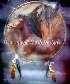 Spirit Horses cross stitch chart