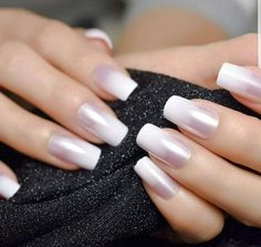 Ombre French Nails, Coffin Nails Ombre, French Tip Nails, Nail French, French Tip Nail Designs, Coffin Nails Designs Summer, Nail Polish Designs, Acrylic Nail Tips, Acrylic French Manicure