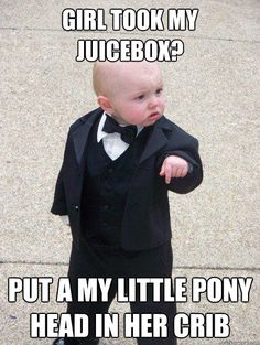 Make funny memes with meme maker. (Top Funny Memes - generate and share your own! Don Meme, Don Corleone, Teaching Memes, Classroom Memes, Classroom Posters, Baby Memes, Baby Humor, What Do You Mean, Humor Grafico