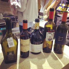 Bottiglie di qualità per una serata di gran livello.