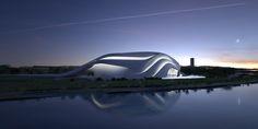 Grand Theatre Rabat by Zaha Hadid [Zaha Hadid: http://futuristicnews.com/tag/zaha-hadid/]