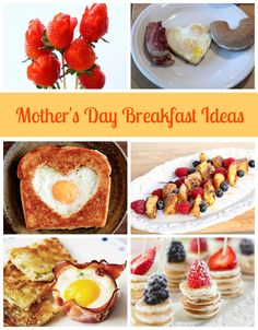 Some of our favourite fun food ideas for Mother's Day breakfast in bed. Links to recipes included.