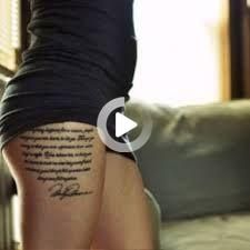 Quotes are those inspirational works which have been printed in books, caved on walls and inked on bodies of tattoo lovers. Those tattoo quotes are sort #tattooideas Tattoo Quotes For Women, Quote Tattoos Girls, Tattoos For Women, Girl Thigh Tattoos, Thigh Tattoo Designs, Thighs, Bodies, Prints, Walls