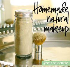 Homemade natural makeup foundation. | http://makeuptutorials.com/22-diy-cosmetics-easy-makeup-recipe-ideas/