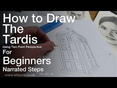 How to draw the Tardis from the BBC Television Science Fiction Series Doctor Who. Full narrated film for beginners. Using Two Point Perspective and a ruler h. Point Perspective, Perspective Drawing, Science Fiction Series, Hand Painted Shoes, Tardis, Doctor Who, Cards Against Humanity, Learning, Drawings