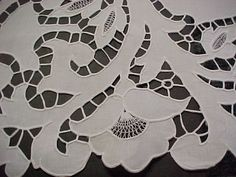 Cutwork on an Irisk linen sheet