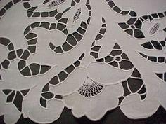Cutwork on an Irisk linen sheet