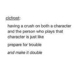 So true.Lots of people come to mind. Fred Weasley and James Phelps, George Wealsey and Olivier Phelps, Draco Malfoy and Tom Felton, Loki Laufeyson and Tom Hiddleston Tumblr Posts, My Tumblr, Tumblr Funny, Funny Memes, Hilarious, My Sun And Stars, The Fault In Our Stars, Sam Dean, Dean Cain