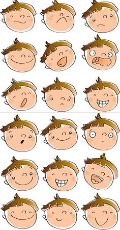 Cartoon-Emotions-Faces Mehr