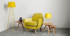 Collins Floor Lamp, Ochre Yellow | made.com