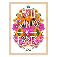 Santo Forte Orisha, Arte Pop, All Paper, Lucky Charm, Cute Pattern, Illustrations And Posters, Some Words, Mandala Art, Photo Illustration