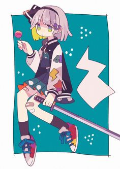 Touhou Project- Youmu Konpaku artwork by sssbeean Cute Art Styles, Cartoon Art Styles, Anime W, Estilo Anime, Goth Art, Art Et Illustration, Art Reference Poses, Character Design Inspiration, Aesthetic Art