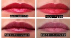 Beauty Tip: Use lipliner instead of lipstick for budge-proof & long-lasting color. Here are some of my favorite liners: MAC Brick, MAC Redd, Chanel Vamp & Chanel Rose Cuivre.