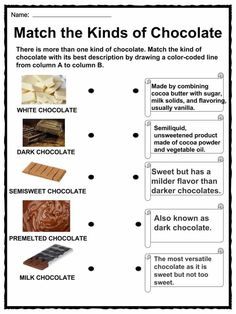 Chocolate Facts, Worksheets, Origin, Types & History For Kids Chocolate Tree, Chocolate Filling, How To Make Chocolate, Hot Chocolate, English Chocolate, Life Skills Lessons, History Of Chocolate, Kinds Of Beans, English Worksheets For Kids