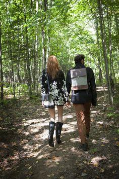 Le Petit Andouille - Black Leather & Comme des garçons - Brown Leather - C comme ÇA #fashion #style #montreal #bags
