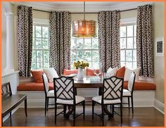 The kitchen is a little old fashioned, but I need a big Bay Window Seat!