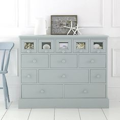 This 13 drawer glazedchest has to be one of the most versatile pieces of furniture that we sell and finds itself fulfilling many purposes - from baby