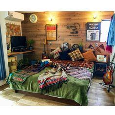 Cowboys Bar, Surf Style, Comforters, Blanket, Interior Design, Retro, Bedroom, Inspiration, Furniture