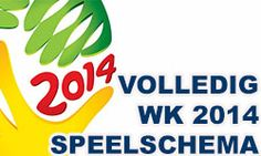 Speelschema WK voetbal 2014. Het complete wedstrijdschema WK voetbal 2014. Wanneer speelt Nederland? Kijk en je weet het.