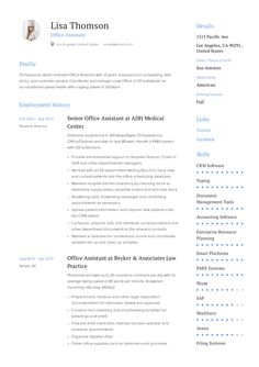 Accountant Resume + Guide with examples to land your next job in Job descriptions & responsibility samples inc. Resume Layout, Resume Writing, Resume Design, Cv Design, Resume Skills, Resume Tips, Best Resume Template, Cv Template, Resume Summary Examples