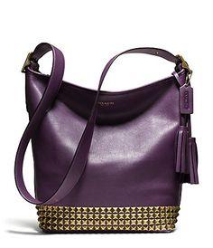 467b3105d7 COACH LEGACY STUDDED LEATHER DUFFLE  belk Coach Handbags Outlet