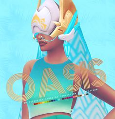 Oasis Overwatch Symmetra Anniversary helmet conversion at Valhallan • Sims 4 Updates