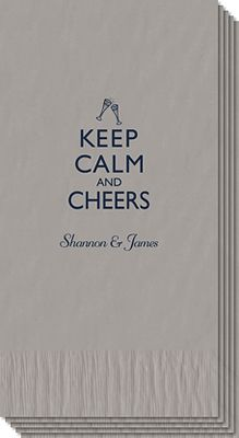 Keep #Calm and Cheers Guest Towels. #Relax #Peaceful