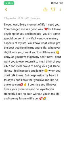 Cute paragraphs for him