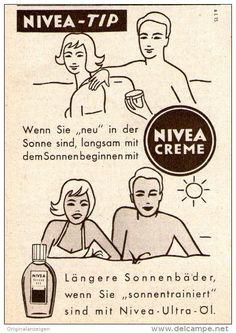 Original-Werbung/ Anzeige 1958 - NIVEA CREME / ULTRA - ÖL - ca. 60 x 80 mm