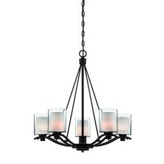 Filament Design Whittier 5-Light Oil-Rubbed Bronze Chandelier CLI-ACG113519 at The Home Depot - Mobile