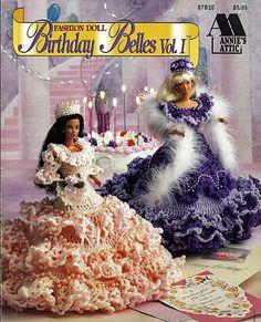 Moda muñeca cumpleaños Belles Vol. Yo de ganchillo muñeca Annies Attic 87B20 del patrón
