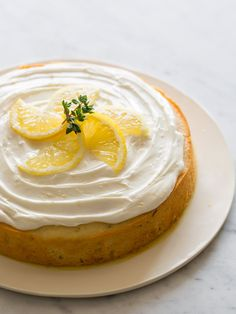 Easy Lemon Thyme Cake #recipe