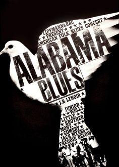 Alabama Blues - Design by Gunther Kieser