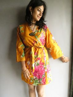 Knee length Robe Style Made From E8 Fabric Pattern