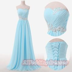 Beaded Back Up Lace Ice Blue Prom Dresses,Sweetheart  Evening Dresses http://21weddingdresses.storenvy.com/products/11457717-back-up-lace-ice-blue-prom-dresses-sweetheart-beaded-evening-dresses