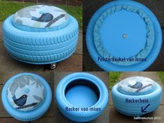 Reifenhocker / Car tyre seating / Upcycling