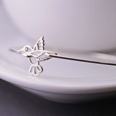 Hummingbird Jewelry, Hummingbird Bracelet, Sterling Silver Bangle Bracelet, Bird Jewelry. $36.00, via Etsy.