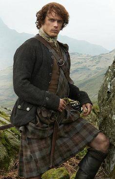 Jamie wearing a kilt so well! | Outlander on Starz | Costume Designer TERRY DRESBACH