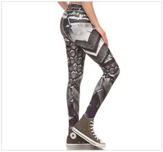 Crop Top Vest size S-XL Captain America grid printed  cosplay Yoga Leggings