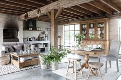 Natural living room. Rustic goodness