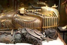 From Tutankhamun's Tomb - The grave of Tutankhamun's mummy removed except those on display in the Cairo Museum.