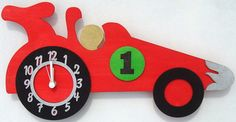 Racing Car Clock... we could so make this