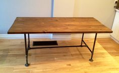 DIY Pipe & Wood Dining Table - Storefront Life