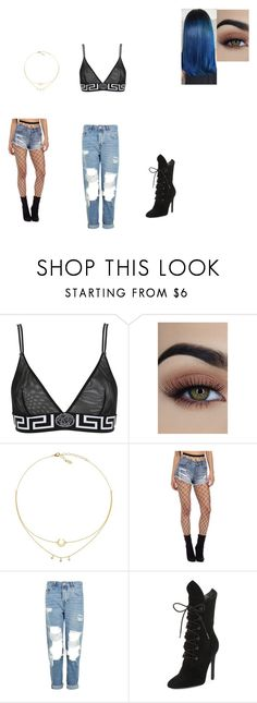 """Untitled #776"" by melissaperez427 on Polyvore featuring Versace, Topshop and Kendall + Kylie"