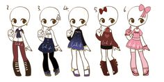Outfit Adopts 2 :CLOSED: by LukasB-adopts.deviantart.com on @DeviantArt