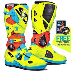 Sidi Crossfire2 SRS Motocross Boots - TC222 Cairoli Ltd Edition + FREE GIFT! Click here;