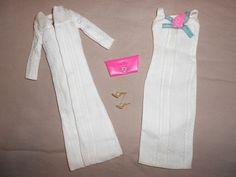 JAPANESE EXCLUSIVE BARBIE ENSEMBLE #2619 WHITE DRESS w/ SATIN LINED COAT~MINTY #Mattel #Dollclothing